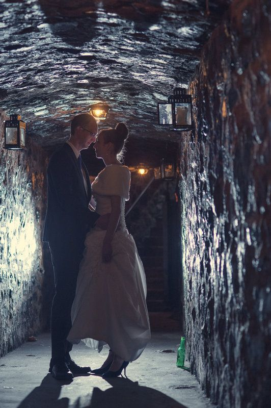 Amazing underground tunnel at the Auberge St-Gabriel in the Old Port of Montreal.  Photo By Esther Gibbons Photography