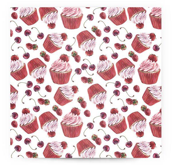 Cupcake Pattern on Behance