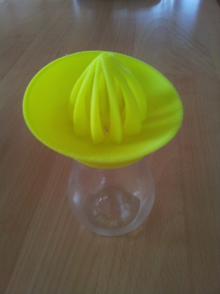 3D printed citrus juicer. Based on a design by samuel. Fabricated on a Makerbot Replicator