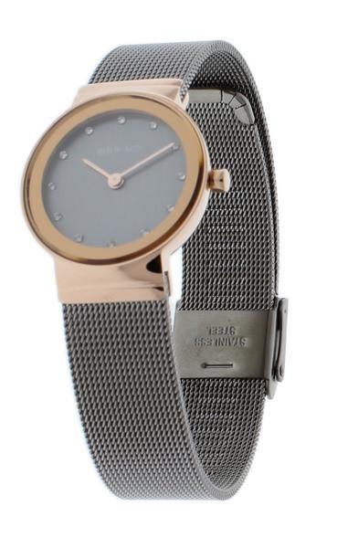 BERING 10126-369 Women's Watch Slim IP Rose Gold Case Grey ...
