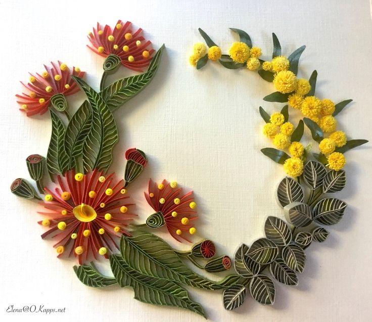 quilling Australian native flora