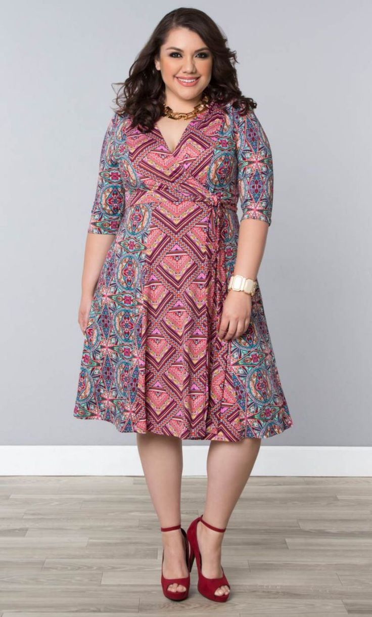 In the Mix Dress, Kaleidoscope Mix Print (Women's Plus Size) From the Plus Size Fashion Community at www.VintageandCurvy.com