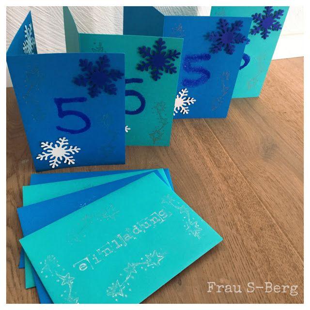 Frozen Einladungskarten Zum Kindergeburtstag   Eiskönigin