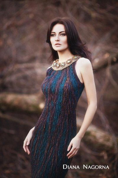 another wonderful felted(?) dress from Russian felter Diana Nagorna