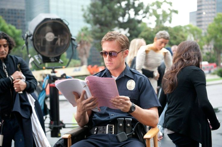 Ryan Gosling reads lines before a scene in 'Drive'