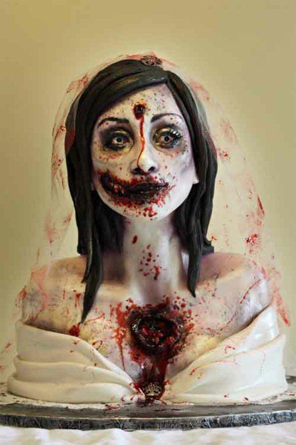 Halloween Kuchen Deko braut