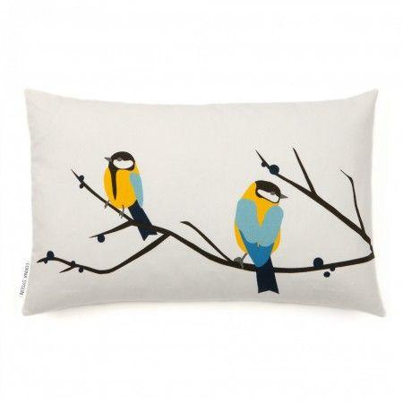 Juneberry & Bird Cushion | Howkapow