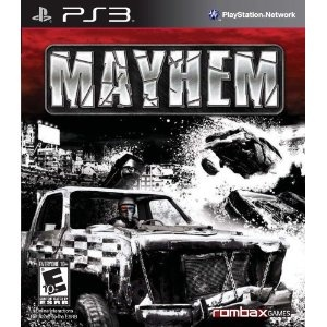 """Platform: PLAYSTATION 3                                                                            Mayhem is a fast paced arcade racing and car destruction game. The inspiration for the game comes from two distinct types of events: Demolition Derby and Banger Racing. A demolition derby is more of an American pastime, primarily at state fairs and the like. Participants take an old beat down car, strip it of all the glass and other """"dangerous"""" elements, spray paint the car and decorate it to…"""