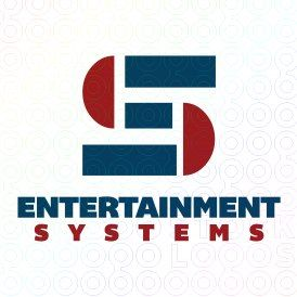 Exclusive Customizable S Letter Logo For Sale: Entertainment Systems | StockLogos.com