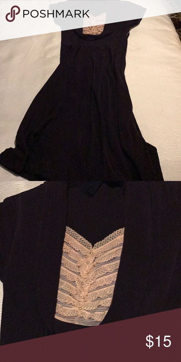 Vintage dress Tea length vintage dress -. Navy Blue Dresses Midi