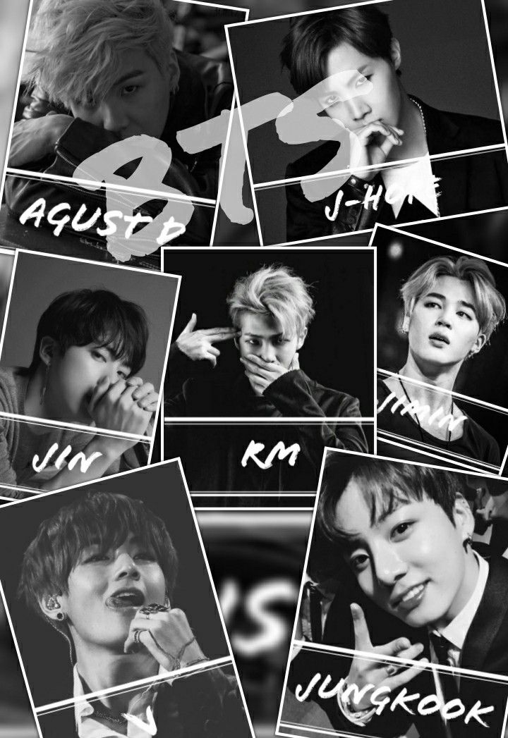 Black and white aesthetic BTS wallpaper darkBTS Rm