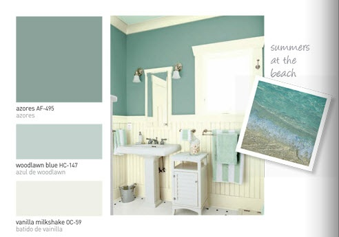 Kitchen living room wall color azores by benjamin moore for the home pinterest - Kitchen living room color schemes ...