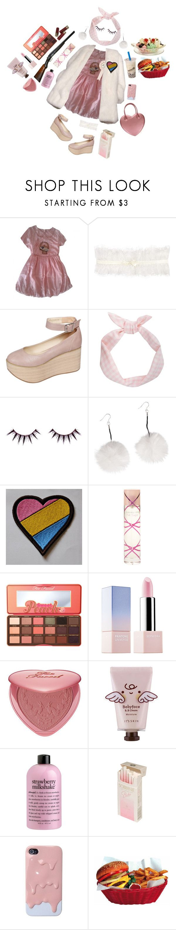 """i love you.. (pt 1)"" by memealicious ❤ liked on Polyvore featuring Manoush, Derek Lam, Somerset by Alice Temperley, Viva La Diva, Pink Sugar, Too Faced Cosmetics, Sephora Collection and philosophy"