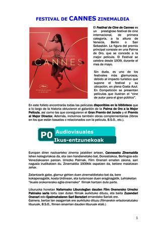 Festival de cine de Cannes en la BN
