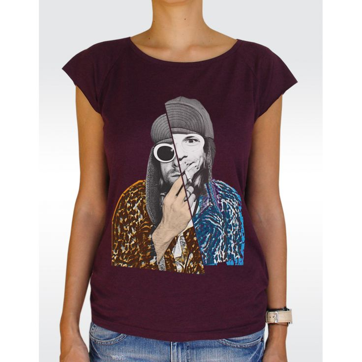 W43 KURT COBAIN T-shirt Women's Bamboo Viscose Raglan T-Shirt Available in 5 colours