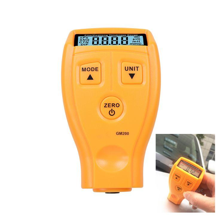 Beschichtung Malerei Dickenmessgerät Tester GM200 Ultraschall Mini Auto Schichtdicke messen Lackdickenmessgerät