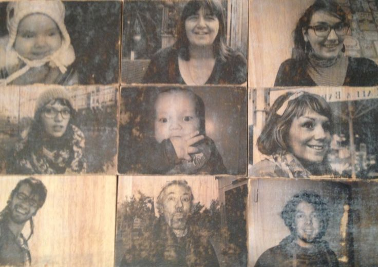 Photo transfers on wood
