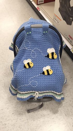Car Seat Tent: FREE crochet Pattern (follow link on site)
