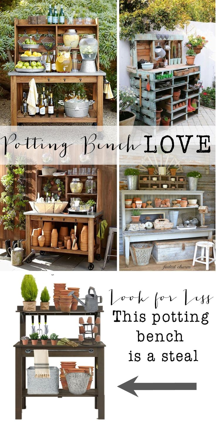 Potting Benches 399 Best Potting Benches Images On Pinterest