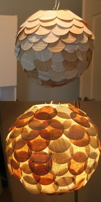 Make this lamp out of old books.