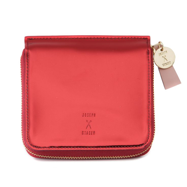 Joseph and Stacey Thomas Accordion Wallet in red!!  #thomas #wallet by #josephandstacey in #metallic #leather with a spacious #interior