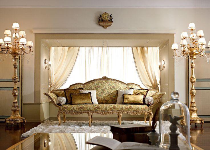 For an impressive look, a plush sofa with Oriental charm. Per uno spazio importante ecco questo sfarzoso divano dal fascino orientale. http://www.andreafanfani.it/