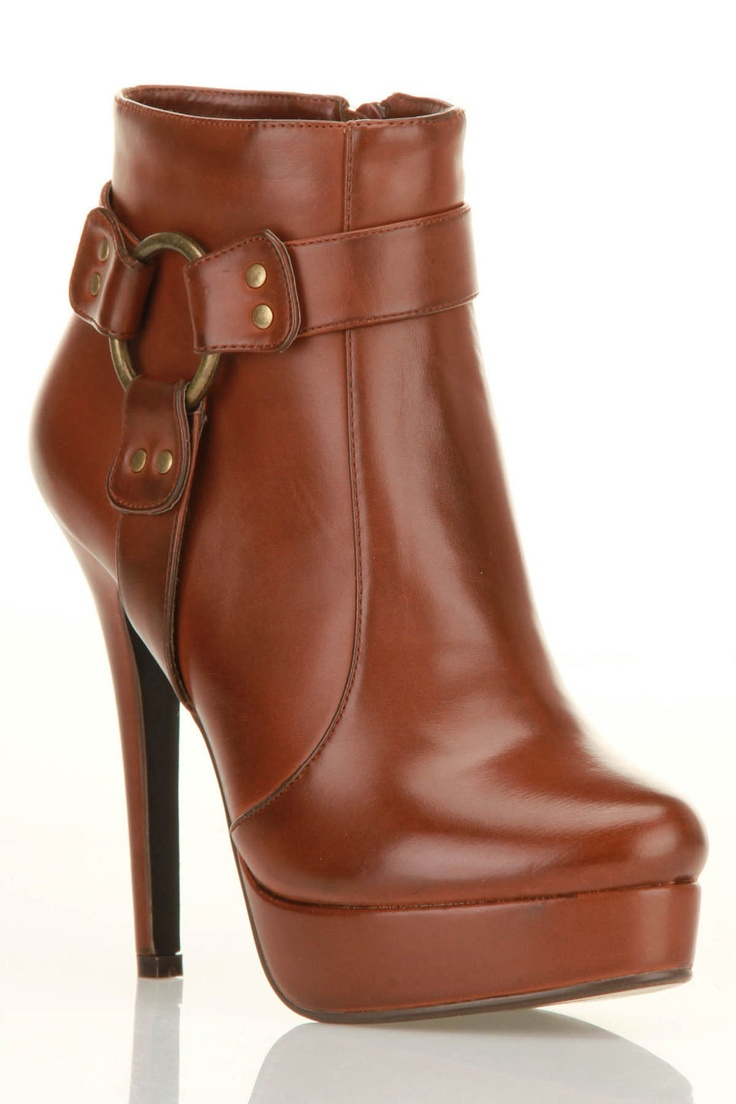 Adria Booties In Cognac / charles david