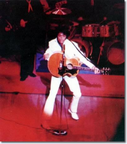 Elvis Presley : In Concert : Las Vegas : August 26, 1969. Known for a powerful stage presence in total command of every room he has ever worked. But backstage at the International Hotel on July 31, 1969, Elvis Presley was packing back and forth like a panther. In a few minutes, he would march out into what was then the largest showroom in Las Vegas, holding 2.000 people. -