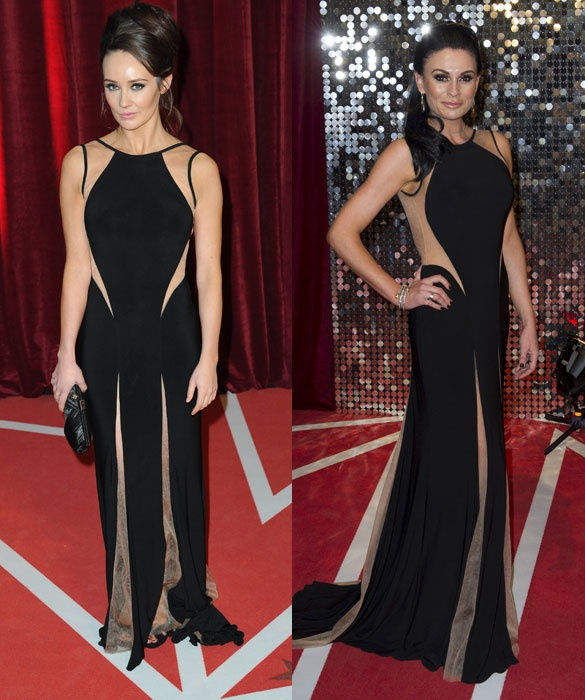 British Soap Awards 2013 - Lucy Pargeter and Claire Cooper in a gown by designer Jovani