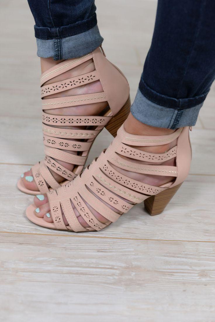 Beverly Heels Style Blush Pink Peep Toe Shoes - SHO345PK
