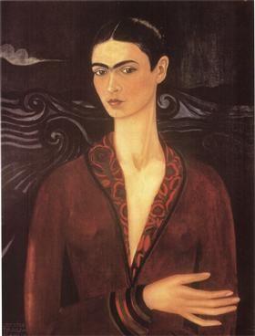 Self-portrait in a Velvet Dress - Frida Kahlo