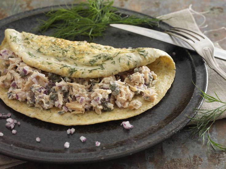 Æggeret med tunsalat, rødløg og kapers opskrift til Dukan Kurens fase 1, angrebsfasen