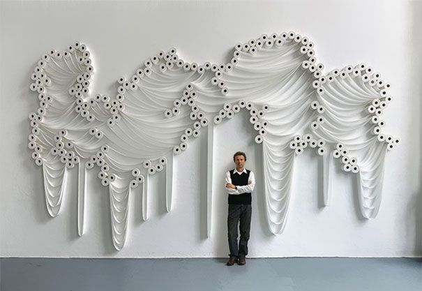Hundreds of Toilet Paper Rolls Turned Into Art | Bored Panda