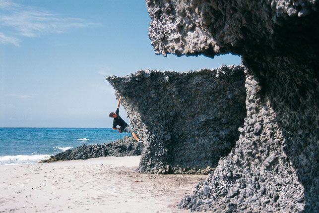 El búlder comenzó aquí para entrenar la escalada deportiva