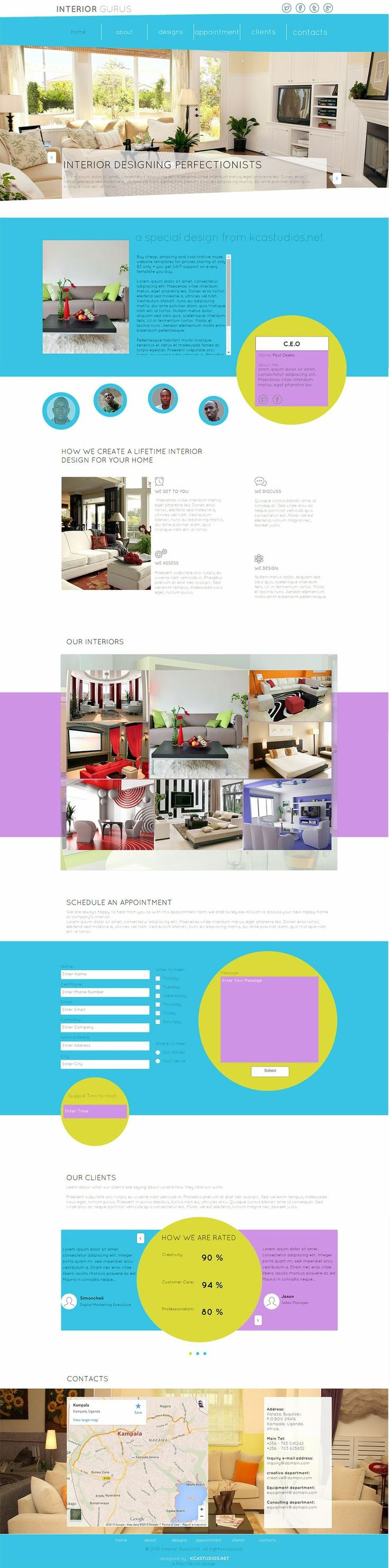 Interior Gurus - Creative premium Muse Website template