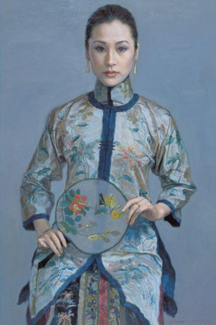 20paintings fishing jpg chinese peasant paintings pinterest - Chen Yifei Chinese Romantic Realism Painter
