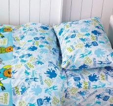 Rock On Double Bed Sheet Set Blue