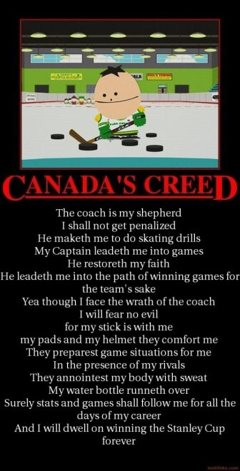 Canadian Humor: Canadian Creed