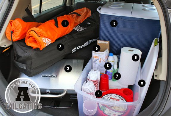 10 Things Every Tailgating Rookie Needs....not a rookie, but I always forget something