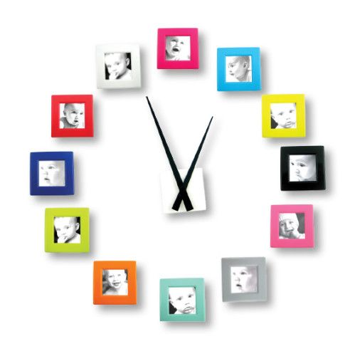 www.helloconton.fr - adorable personalized picture frame wall clock.