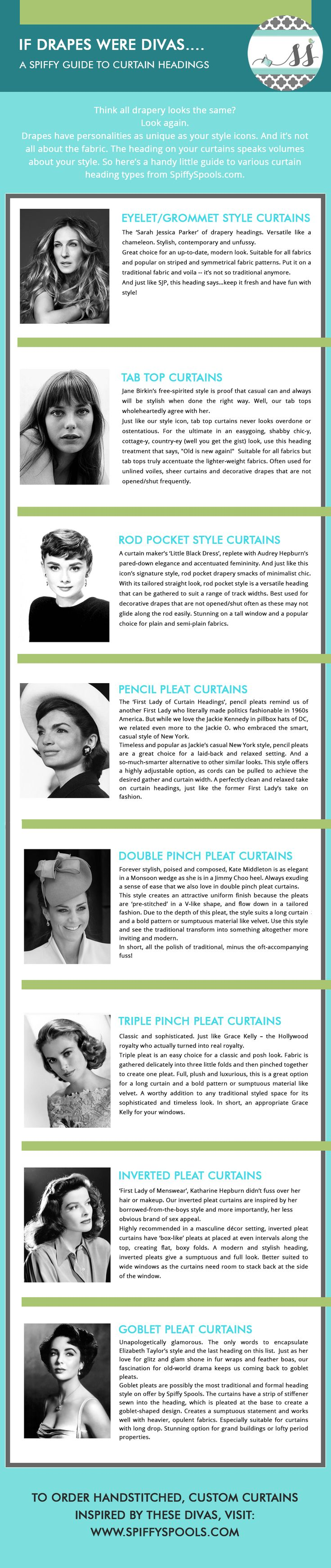 Best 25 curtain headings ideas only on pinterest for Spiffy spools