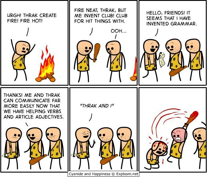 Grammar: Grammar Nazi, Funny Pics, Inventions, Grammar Humor, Funny Jokes, Comics, True Stories, Funny Memes, Cyanide Happy