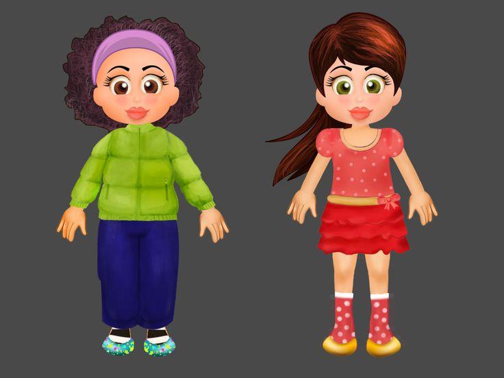 kids game character designing
