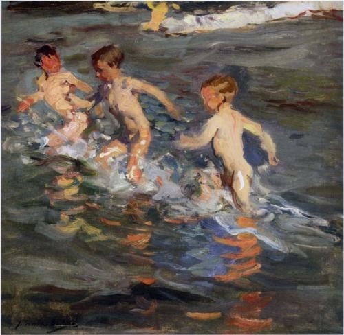 Children at the beach - Joaquín Sorolla