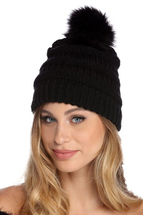 FINAL SALE - Snow Bunny Knit Beanie in 2019  e6442523de10