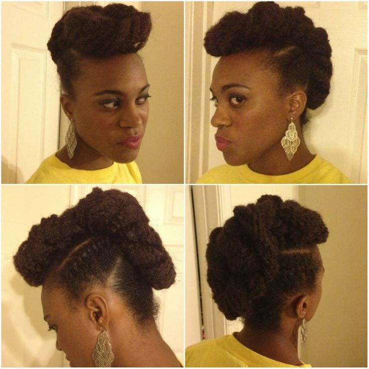 natural hairstyles with perm rods : Natural Hair Updos With Marley Hair Updo With Marley Hair Added