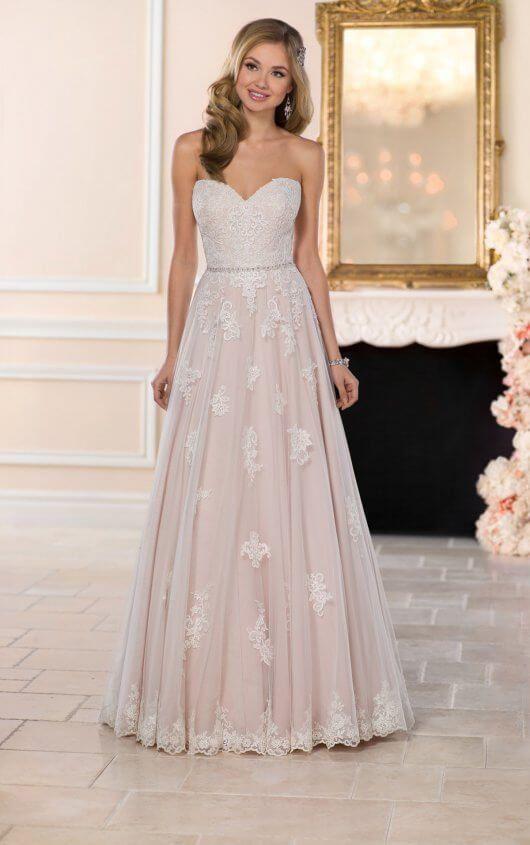 6466 Soft Boho Wedding Gown By Stella York