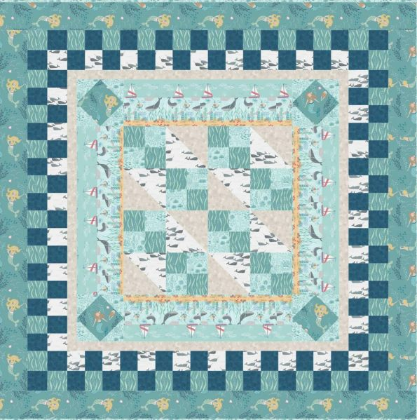 Quilt 3 Tales of the sea Lewis & Irene Designed and made by Sally Ablett