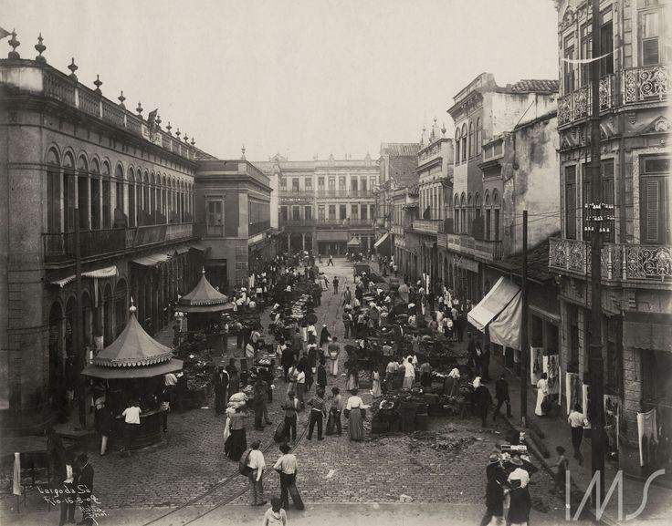 Augusto Malta. Largo da Sé (atual Largo de São Francisco de Paula). 1909. Rio de Janeiro. Brasiliana Fotográfica