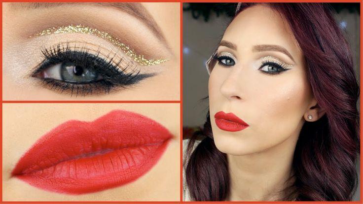 Glitter Cut Crease | Christmas Makeup Tutorial
